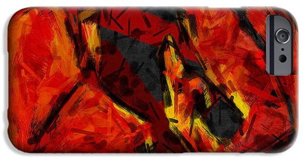 Basketball Abstract iPhone Cases - Basketball Abstract iPhone Case by David G Paul