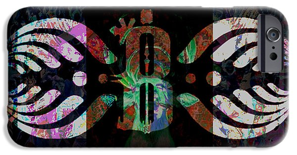 Recently Sold -  - Electronic iPhone Cases - Bassnectar symbol remixed iPhone Case by Andrew Kaupe