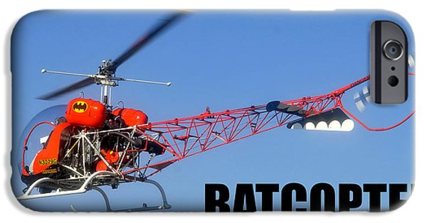 Batman Poster iPhone Cases - Batcopter iPhone Case by David Lee Thompson