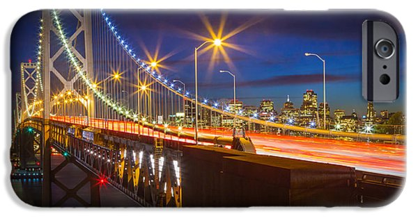Oakland Bay Bridge iPhone Cases - Bay Bridge iPhone Case by Inge Johnsson