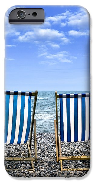 Beach Chair iPhone Cases - Beach Chairs iPhone Case by Joana Kruse