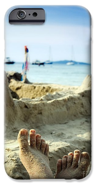 Sand Castles iPhone Cases - Beach holiday iPhone Case by Sinisa Botas