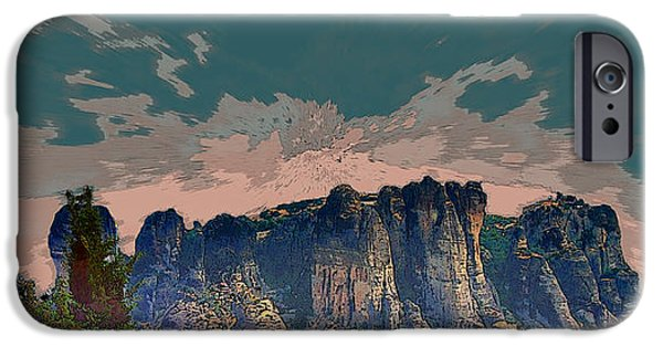 Red Rock iPhone Cases - Beautiful Mountains iPhone Case by Augusta Stylianou