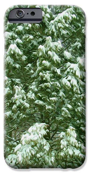 Wintertime iPhone Cases - Beautiful winter tree iPhone Case by Lanjee Chee