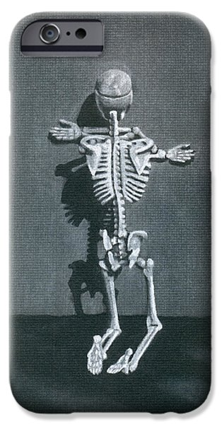 Skeleton Drawings iPhone Cases - Beelzebub II iPhone Case by Kd Neeley