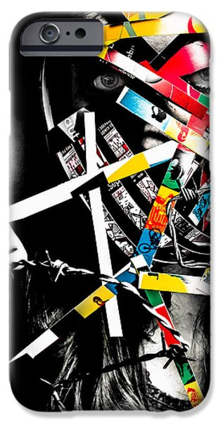 War Sculptures iPhone Cases - Behind Barbed Wire iPhone Case by Citpelo Xccx