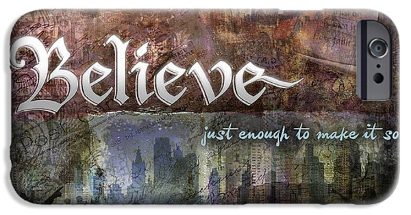 Inner Peace iPhone Cases - Believe iPhone Case by Evie Cook
