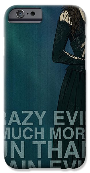 Witches iPhone Cases - Bellatrix Lestrange iPhone Case by Christopher Ables