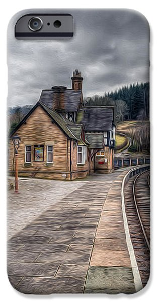 Berwyn Railway Station iPhone Case by Adrian Evans