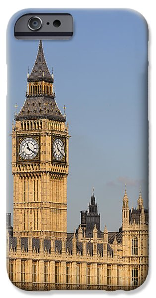 Westminster Palace iPhone Cases - Big Ben and the Houses of Parliament in London England iPhone Case by Robert Preston