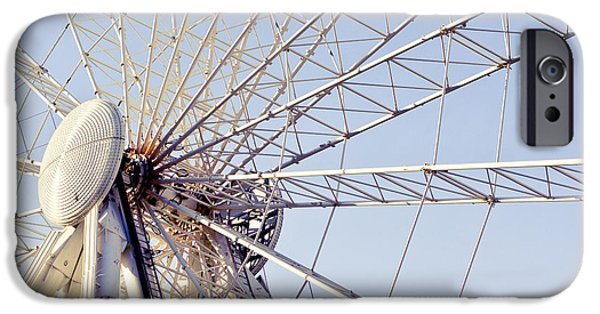 Rollercoaster Photographs iPhone Cases - Big wheel iPhone Case by Tom Gowanlock