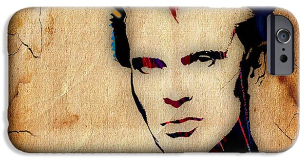Pop Art iPhone Cases - Billy Idol Collection iPhone Case by Marvin Blaine