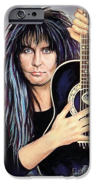 Player Mixed Media iPhone Cases - Blackie Lawless iPhone Case by Melanie D
