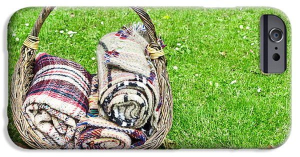 Basket iPhone Cases - Blankets iPhone Case by Tom Gowanlock