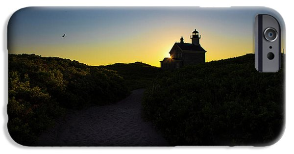 Lighthouse iPhone Cases - Block Island North Lighthouse iPhone Case by Diane Diederich
