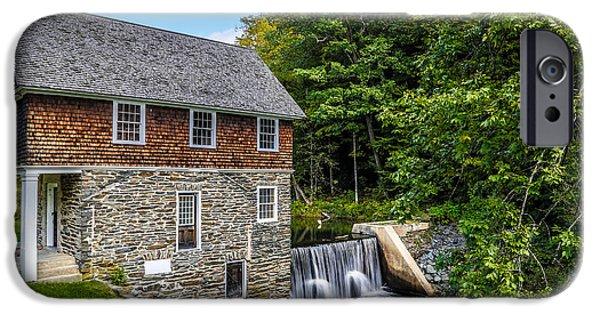 Mill iPhone Cases - Blow Me Down Mill Cornish New Hampshire iPhone Case by Edward Fielding