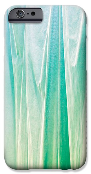 Sheets iPhone Cases - Blue curtain iPhone Case by Tom Gowanlock