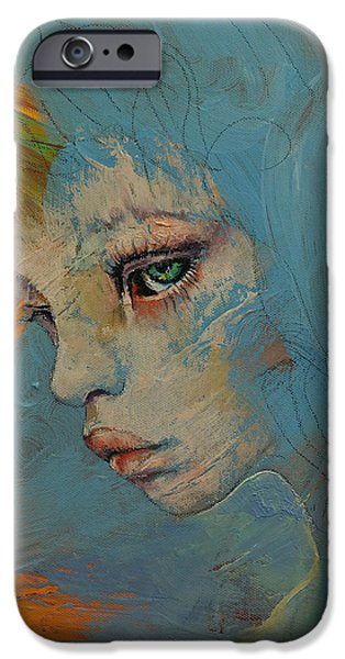 Michael iPhone Cases - Blue iPhone Case by Michael Creese