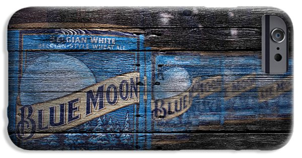 Sign iPhone Cases - Blue Moon iPhone Case by Joe Hamilton