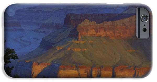 Grand Canyon iPhone Cases - Blue Morning iPhone Case by Cody DeLong
