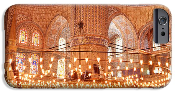 Mosaic iPhone Cases - Blue Mosque, Istanbul, Turkey iPhone Case by Panoramic Images