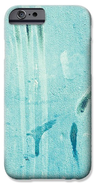 Torn iPhone Cases - Blue stone background  iPhone Case by Tom Gowanlock