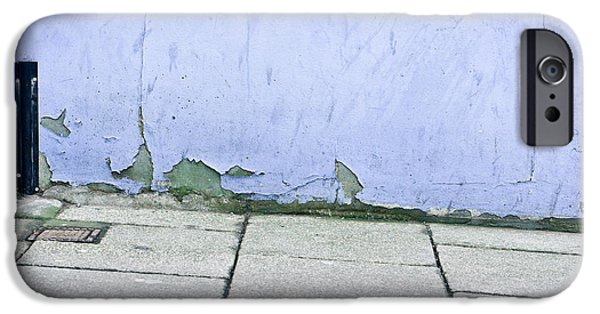 Torn iPhone Cases - Blue wall iPhone Case by Tom Gowanlock