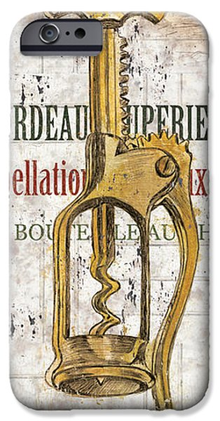 Texture iPhone Cases - Bordeaux Blanc 2 iPhone Case by Debbie DeWitt