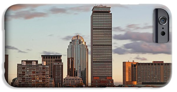 Boston Fall Scenes iPhone Cases - Boston Skyline iPhone Case by Juergen Roth