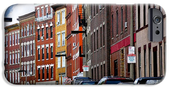 Old Cars iPhone Cases - Boston street iPhone Case by Elena Elisseeva
