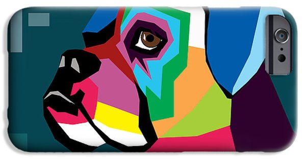 Boxer Digital Art iPhone Cases - Boxer  iPhone Case by Mark Ashkenazi