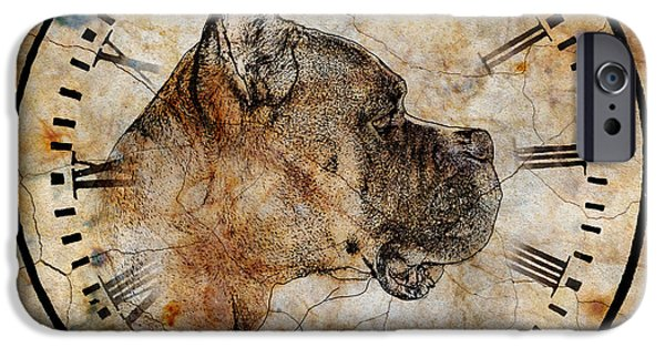 Boxer Digital iPhone Cases - Boxer Time iPhone Case by Judy Wood