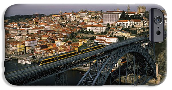 House iPhone Cases - Bridge Across A River, Dom Luis I iPhone Case by Panoramic Images