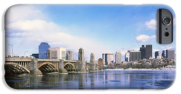 Charles River iPhone Cases - Bridge Across A River, Longfellow iPhone Case by Panoramic Images