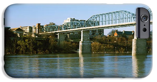 Tennessee River iPhone Cases - Bridge Across A River, Walnut Street iPhone Case by Panoramic Images