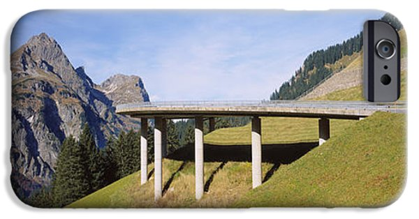 Mountain iPhone Cases - Bridge On Mountains, Mountain Pass iPhone Case by Panoramic Images