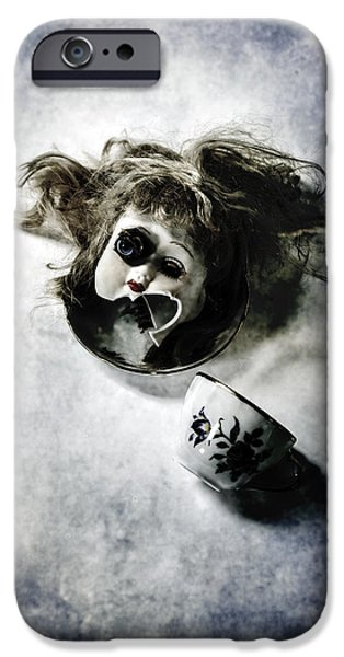 Creepy iPhone Cases - Broken Head iPhone Case by Joana Kruse