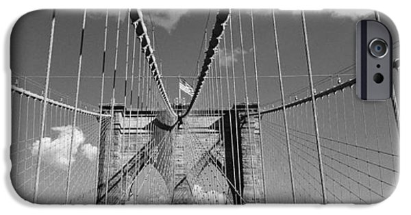 19th Century iPhone Cases - Brooklyn Bridge, Nyc, New York City iPhone Case by Panoramic Images