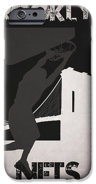 Dunk iPhone Cases - Brooklyn Nets iPhone Case by Joe Hamilton