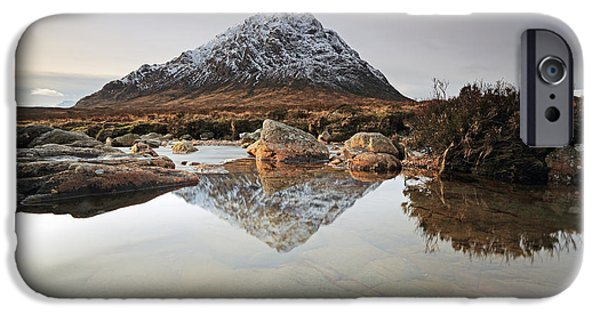 Scenic Print Photographs iPhone Cases - Buachaille Etive Mor iPhone Case by Grant Glendinning