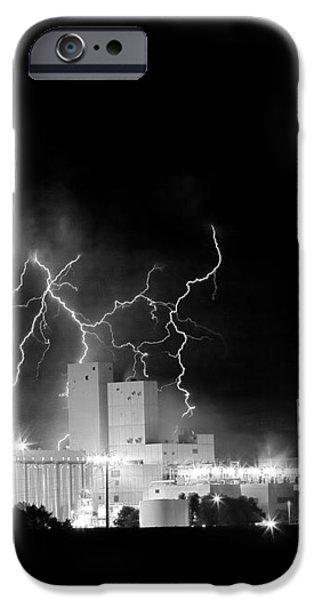 Budweiser Lightning Thunderstorm Moving Out BW iPhone Case by James BO  Insogna