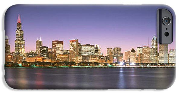 Locations iPhone Cases - Buildings At The Waterfront, Chicago iPhone Case by Panoramic Images
