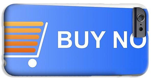 Business Digital iPhone Cases - Buy Now Blue iPhone Case by Henrik Lehnerer