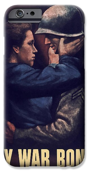 Americana Paintings iPhone Cases - Buy War Bonds iPhone Case by War Is Hell Store