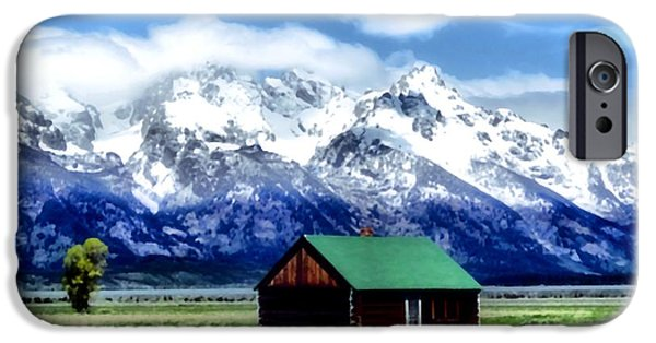 Mountain Cabin iPhone Cases - Cabin In The Mountains iPhone Case by Dan Sproul