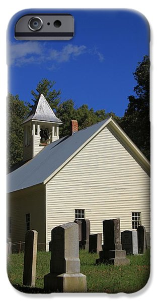 Cades Cove Primitive Baptist Church iPhone Case by Dan Sproul
