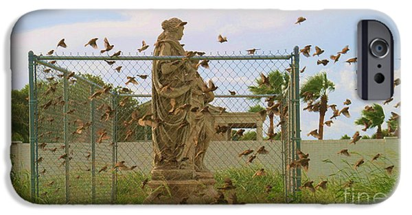 Flight Sculptures iPhone Cases - Caged Ladies iPhone Case by Georgia Griffin