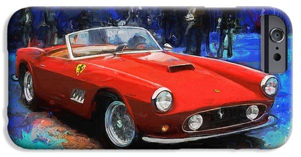 Ferrari 250 Gto iPhone Cases - California Dreamin iPhone Case by Alan Greene