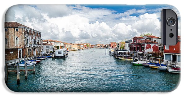 Law Enforcement iPhone Cases - Canale Grande di Murano iPhone Case by Arnaldo Torres