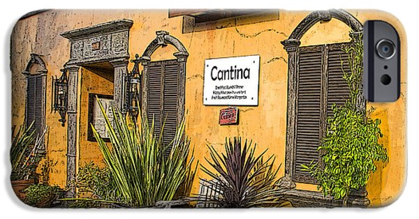 Waiter Photographs iPhone Cases - Cantina iPhone Case by Chuck Staley